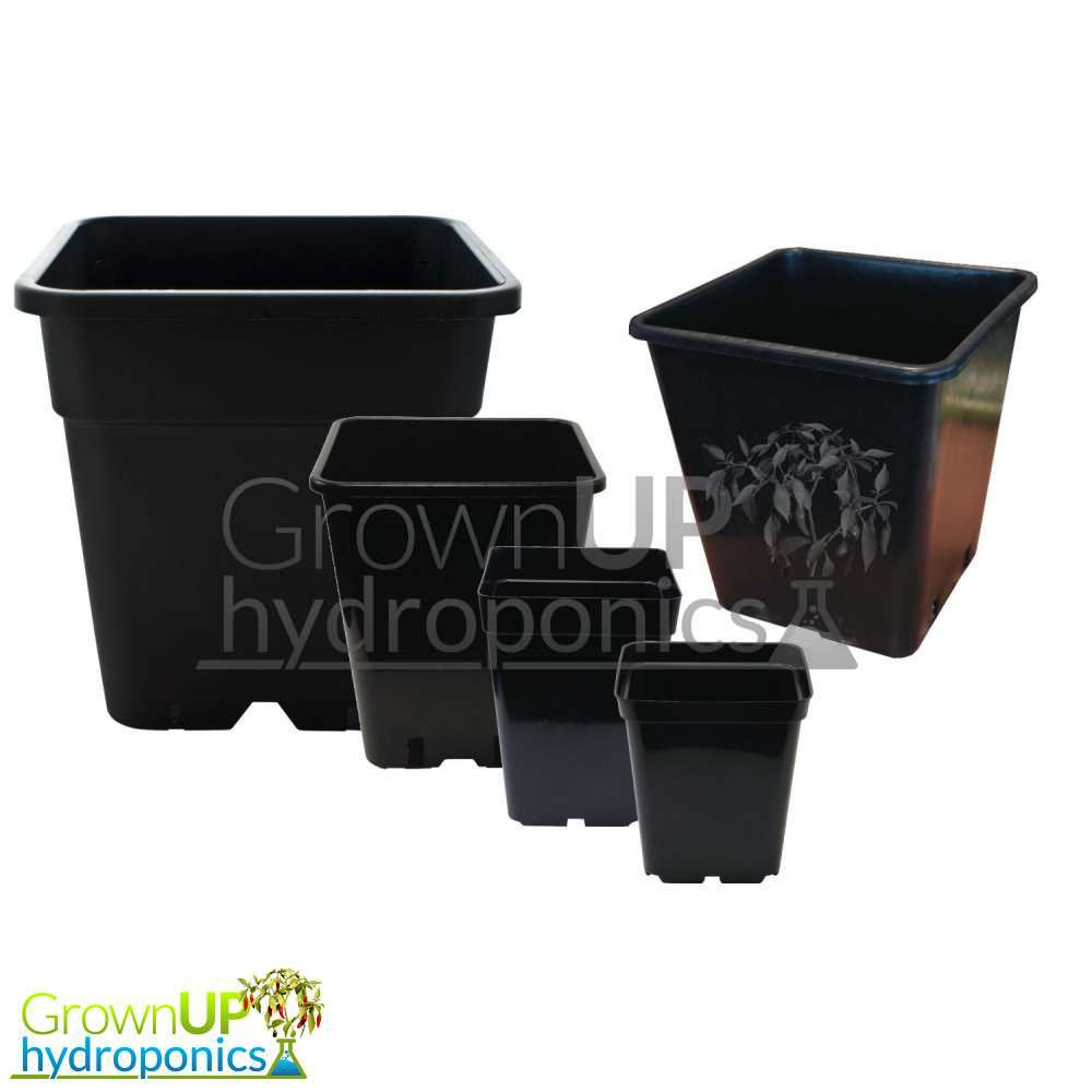 Heavy Duty Square Plant Pots Various Sizes