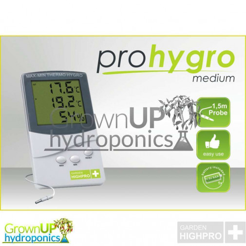 HighPro Digital Thermometer and Hygrometer for indoor grow rooms