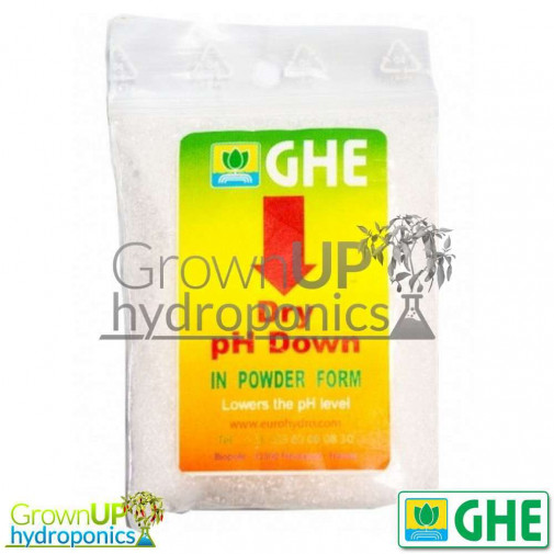 GHE Dry pH Down 25g - Powdered pH Adjustment