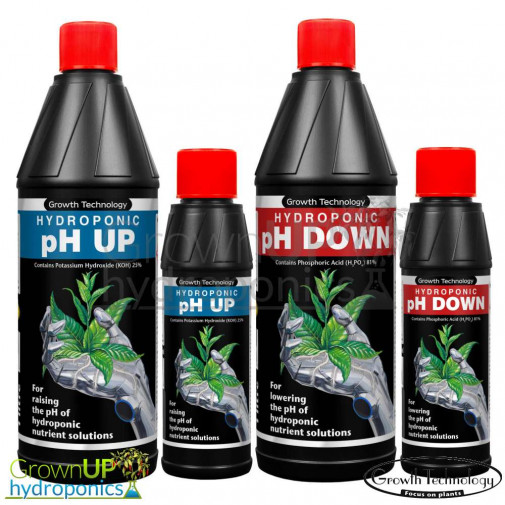 Growth Technology Concentrated pH Up and Down - 250ml or 1L (Litre) nutrient Control