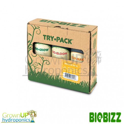 BioBizz Indoor Try Pack - BioGrow, Bloom and Top Max 250ml