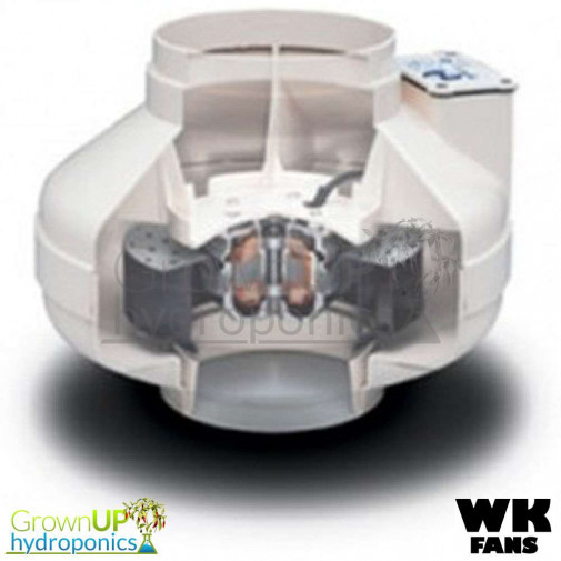 WK Centrifugal Fans - High Output Hydroponics Extraction - Various Sizes