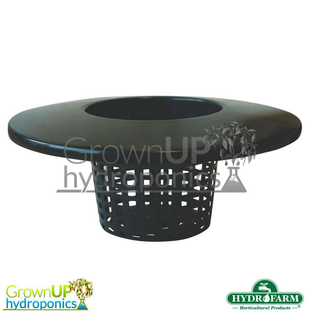 Round Mesh / Net Bucket Lid Pot - 152mm Pot, 302mm Lid - DWC or Drip