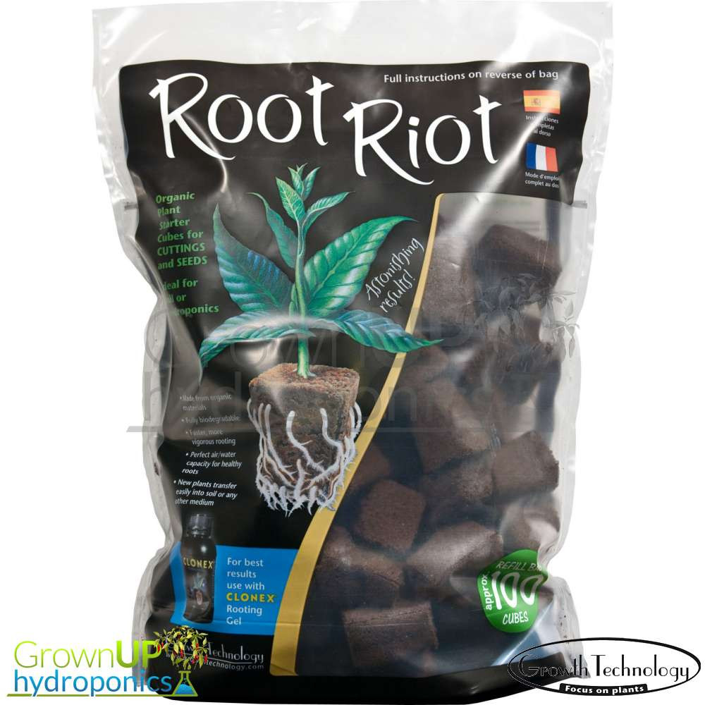 Root Riot 50 Refill Bag Hydroponics Plant Seedling Starter Propagation Cubes