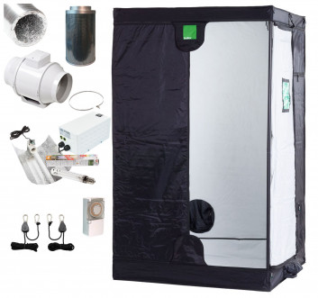 Large BudBox 2m Pro White Complete Grow Kit - 400w Light. 100mm Fan and Filter