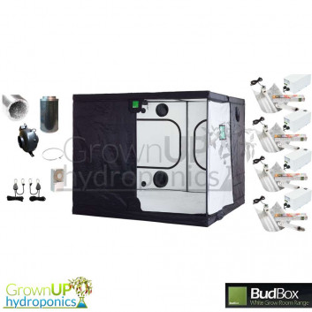 Titan+ BudBox Pro White Complete Grow Kit - 2400w Light. 200mm Fan and Filter
