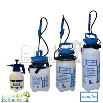 AquaKing Pump Up Compression/Pressure Sprayer - Pest Control Foliar Feeding - 2,3,5,8 litre Capacities