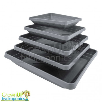 Heavy Duty Square Black Plant Pot Saucers - Various Sizes