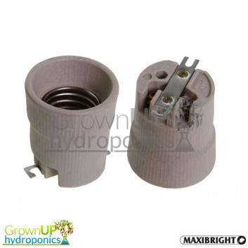 E40 Lamp Holder - Screw Fit - Replacement with Bracket