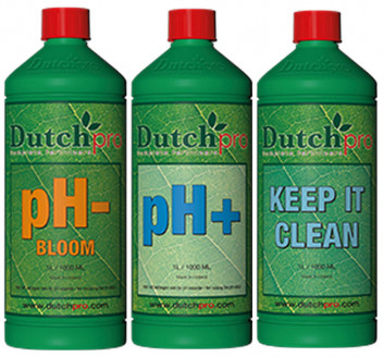 Dutch Pro - pH- Down Bloom - pH+ Up - Keep It Clean
