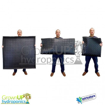 Flexible Square Trays - 80cm, 1M or 1.2M - Grow Tent liner - Hydroponics Accessories