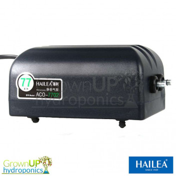 Hailea ACO-7702 double output Air Pump - 2 x 240 Litres per hour