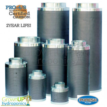 Phresh Carbon Filters - Premium 4/8 Carbon - 2 Year Life - Hydroponics Grow Room Extraction