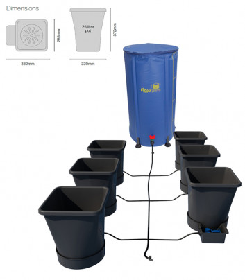 6POT XL SYSTEM: (USING 6MM PIPE)