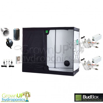 XXL 1.2 x 2.4m BudBox Pro White Complete Grow Kit - 1200w Light. 150mm Fan and Filter