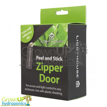 Replacement Zip - 2m (metre) Self Adhesive Grow Room/Tent Zip/Zipper