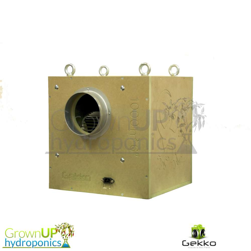 Grow Box Fans : Gekko acoustic box fans grow room extraction reduce