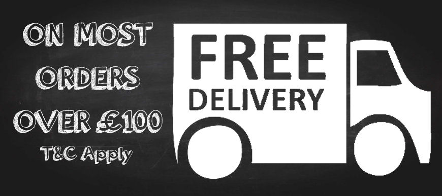 Free Delivery on Most orders over £100